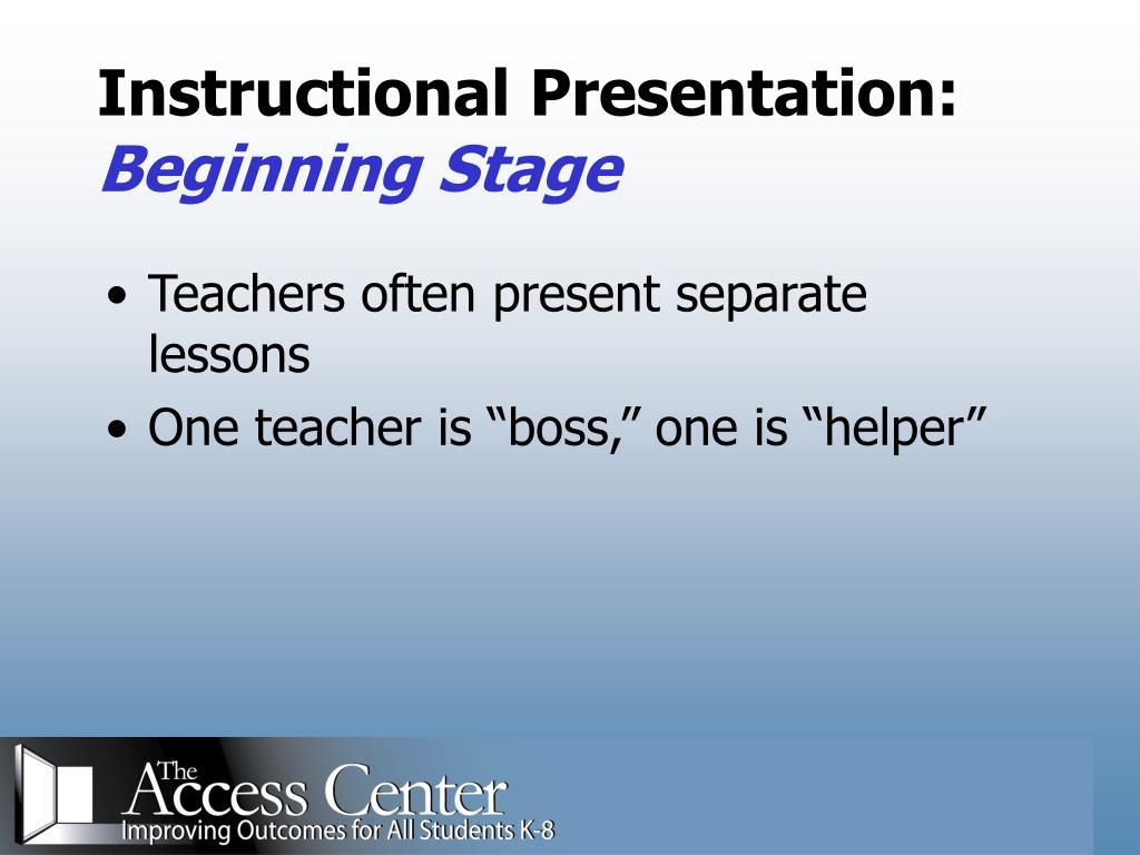 Instructional Presentation: