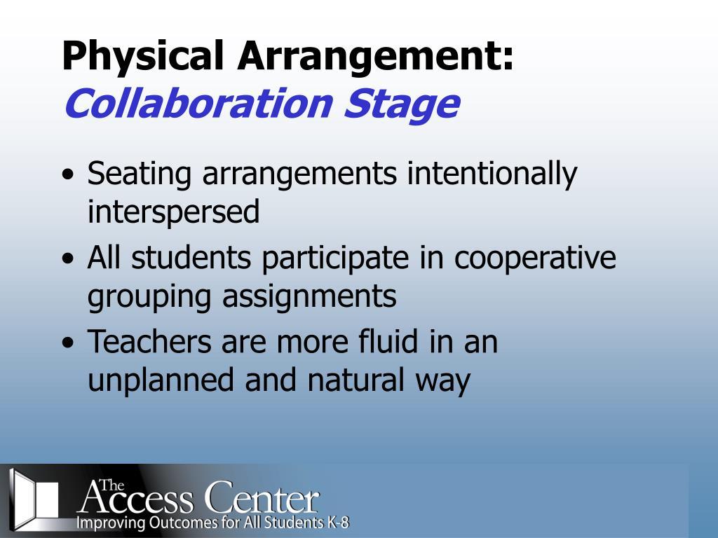 Physical Arrangement: