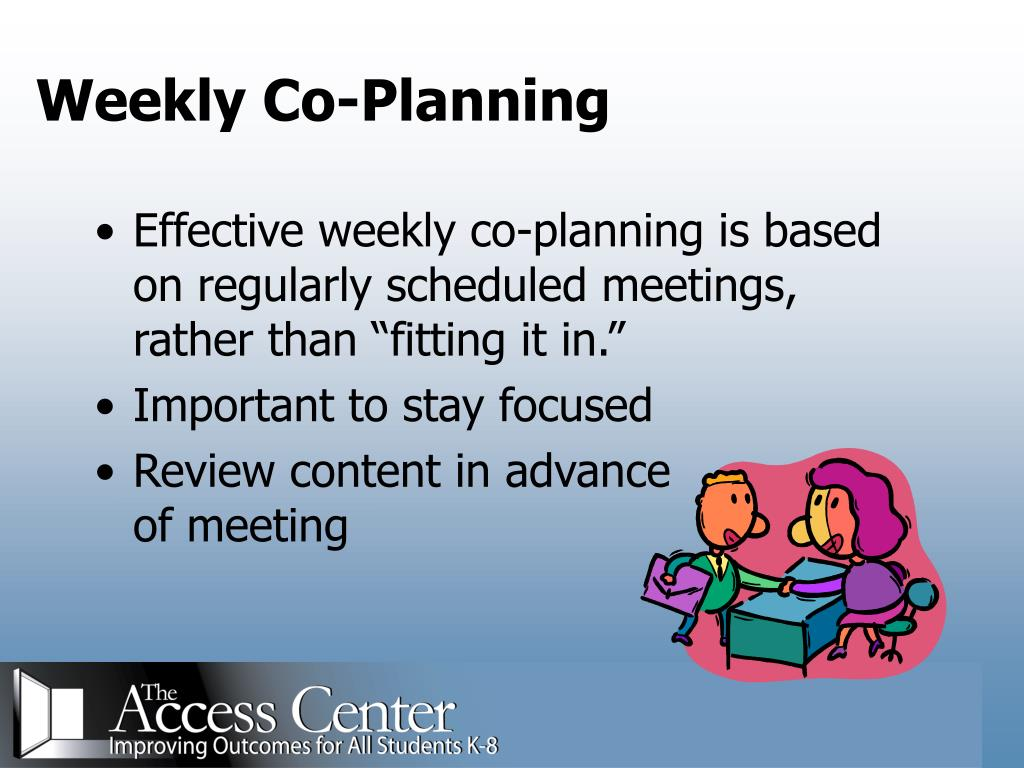 Weekly Co-Planning