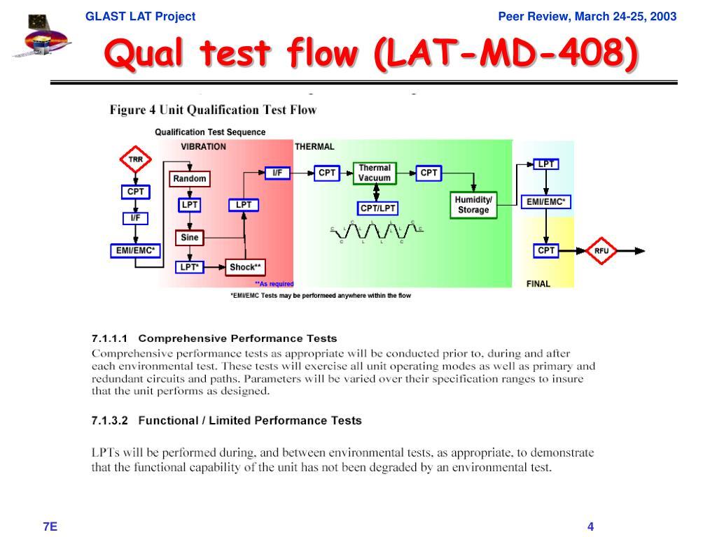Qual test flow (LAT-MD-408)