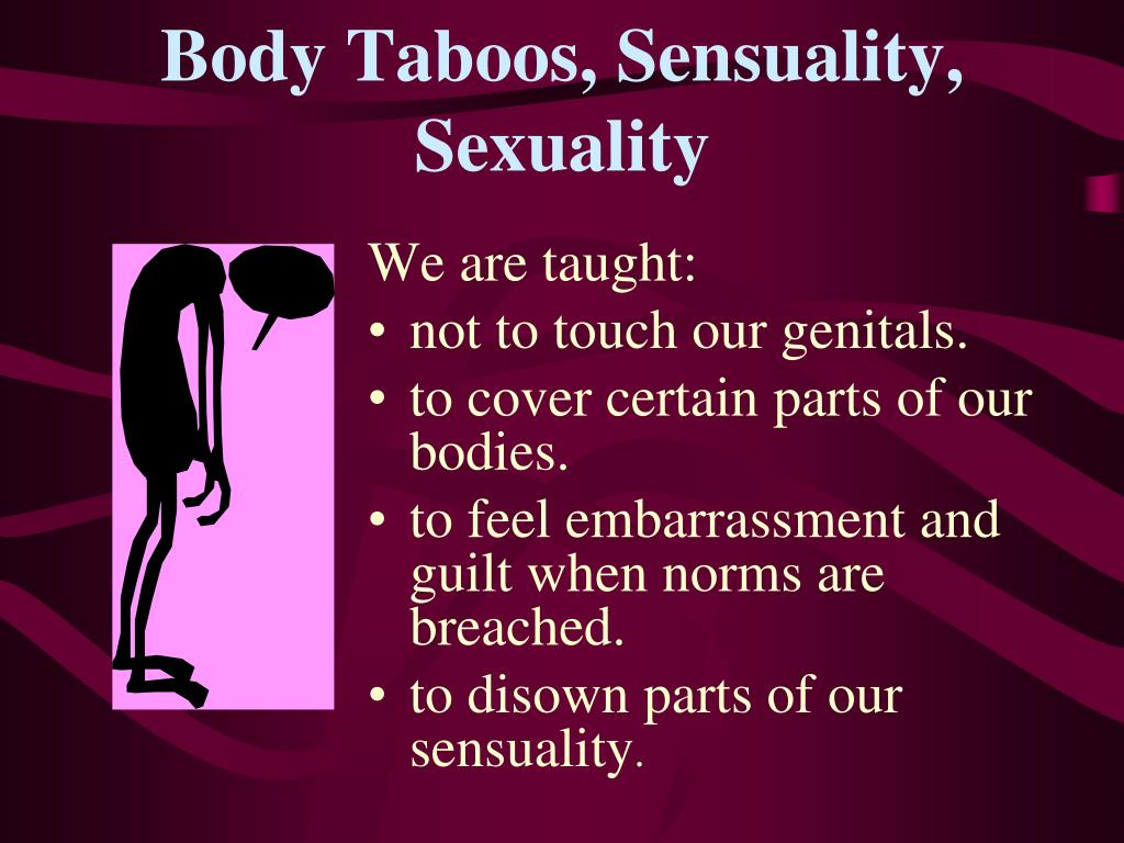 Body Taboos, Sensuality, Sexuality