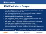asm fast mirror resync
