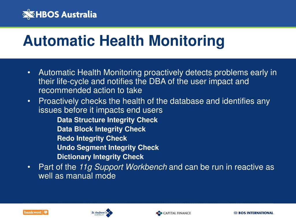 Automatic Health Monitoring