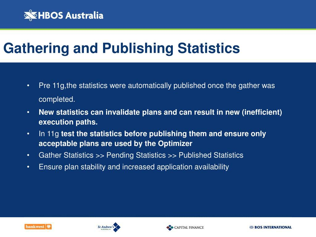 Gathering and Publishing Statistics