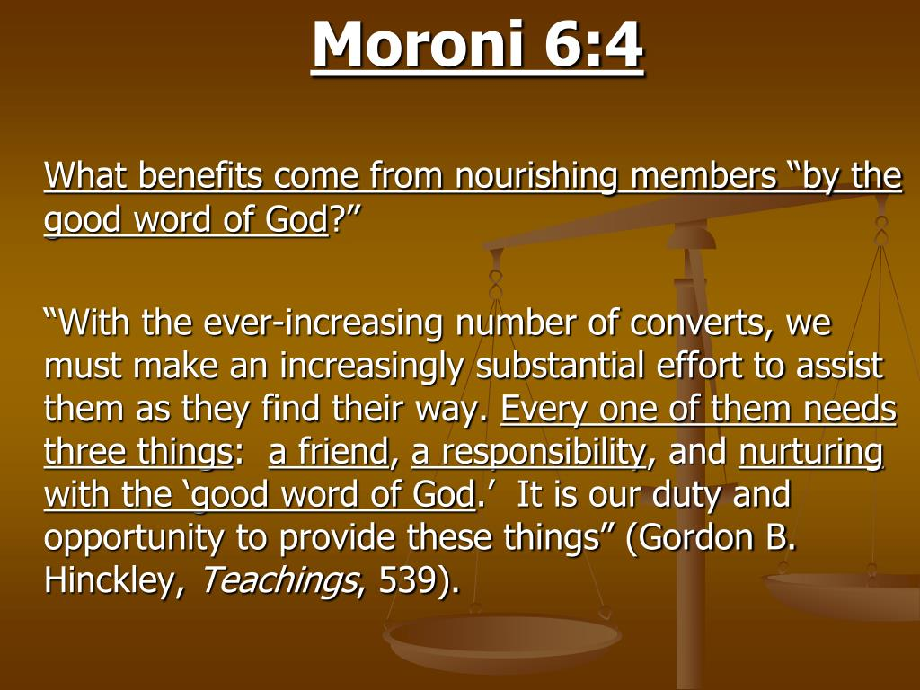 Moroni 6:4