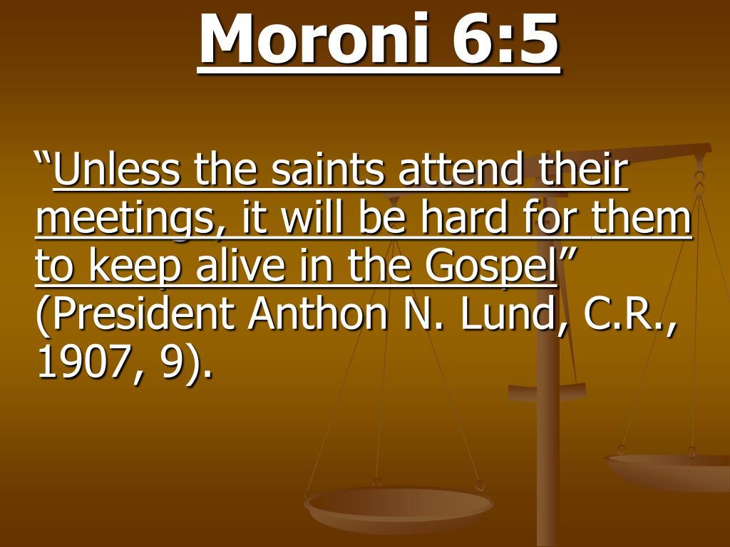 Moroni 6:5
