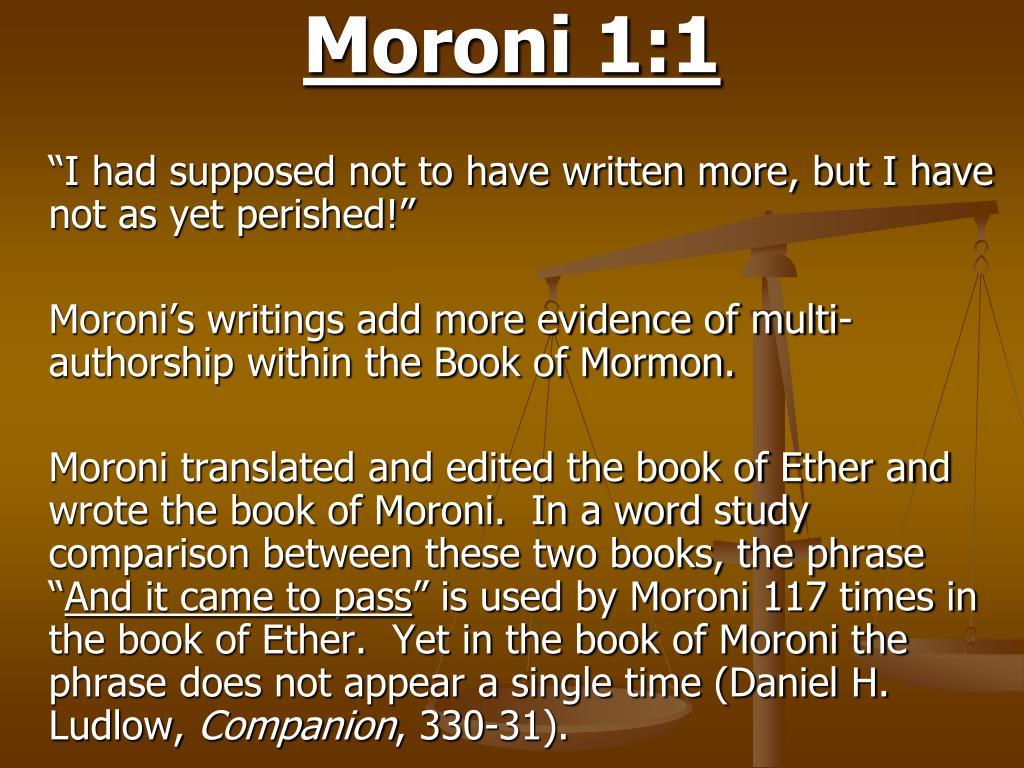Moroni 1:1