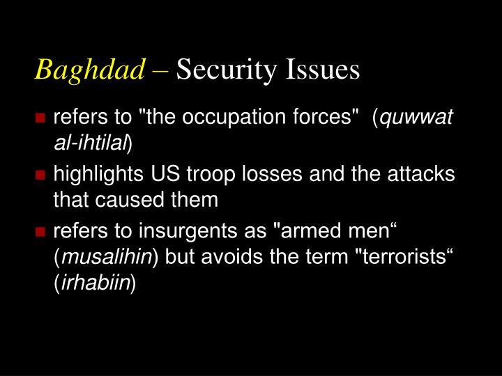 Baghdad –