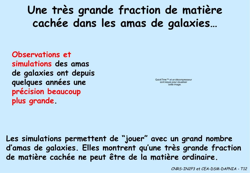 Une très grande fraction de matière cachée dans les amas de galaxies…