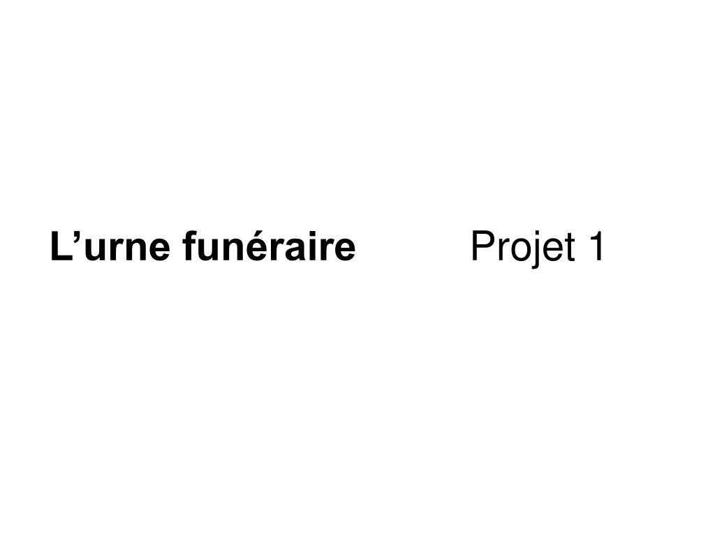 L'urne funéraire