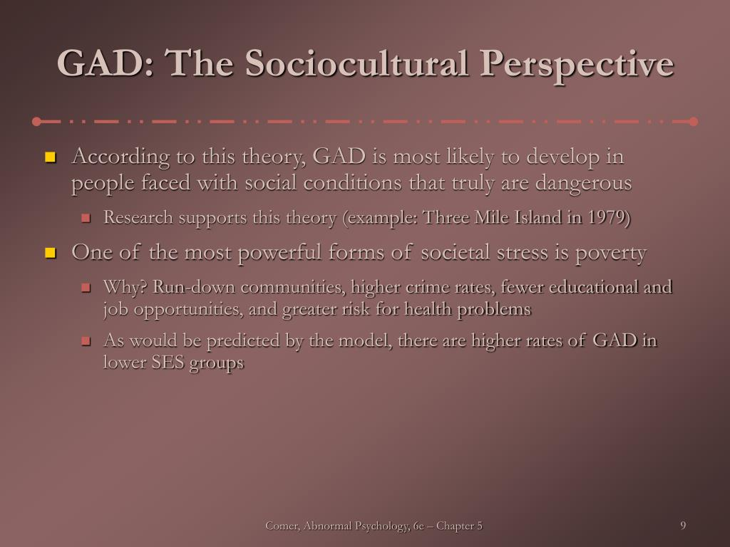 GAD: The Sociocultural Perspective
