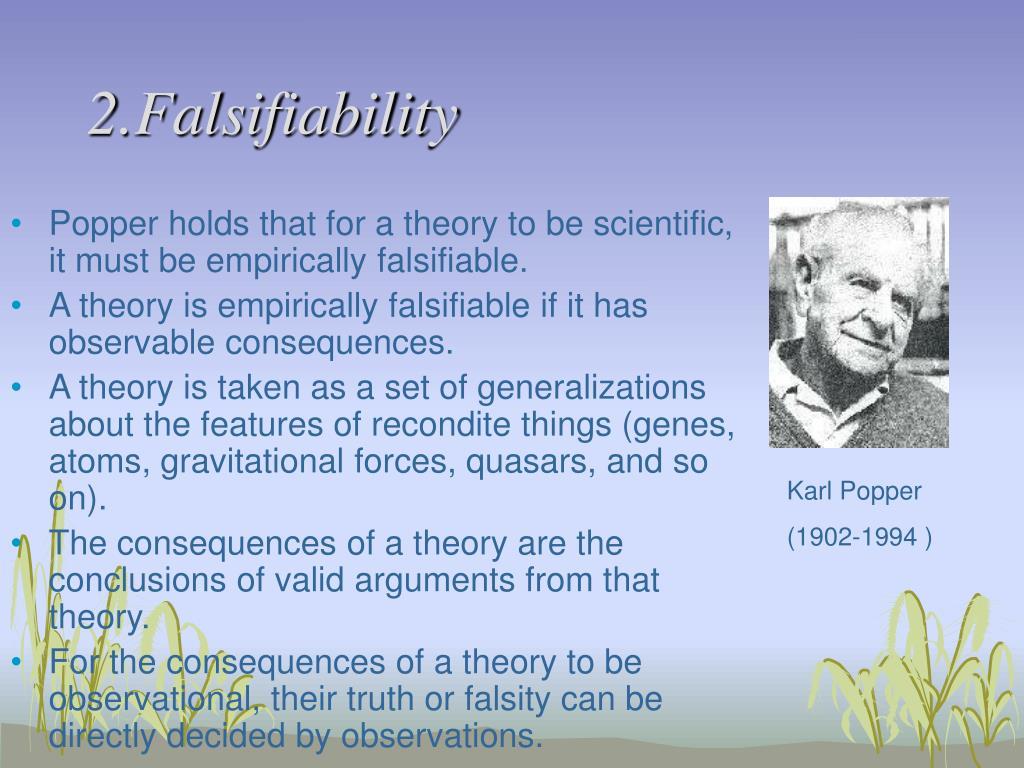 2.Falsifiability