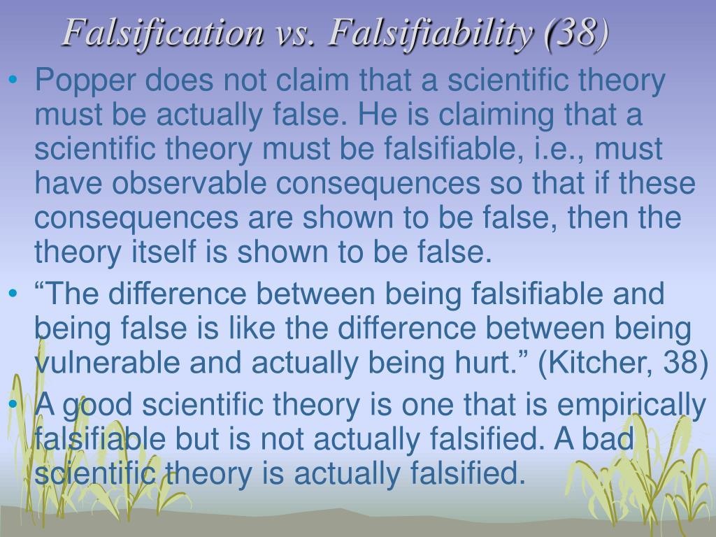 Falsification vs. Falsifiability (38)