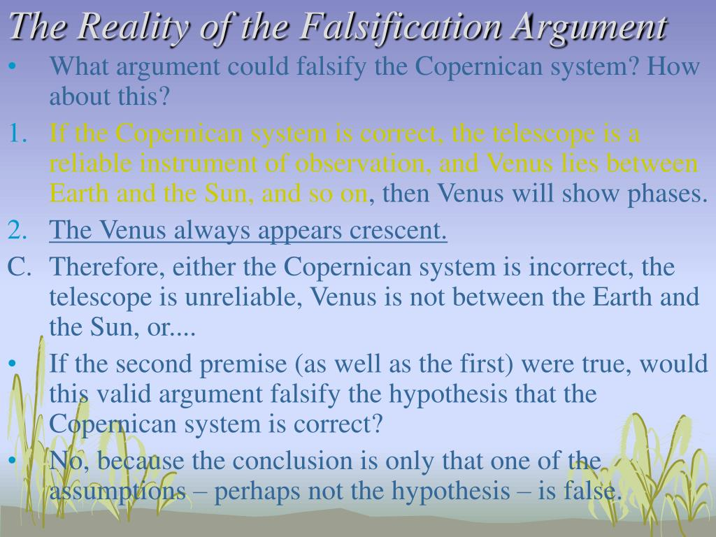 The Reality of the Falsification Argument