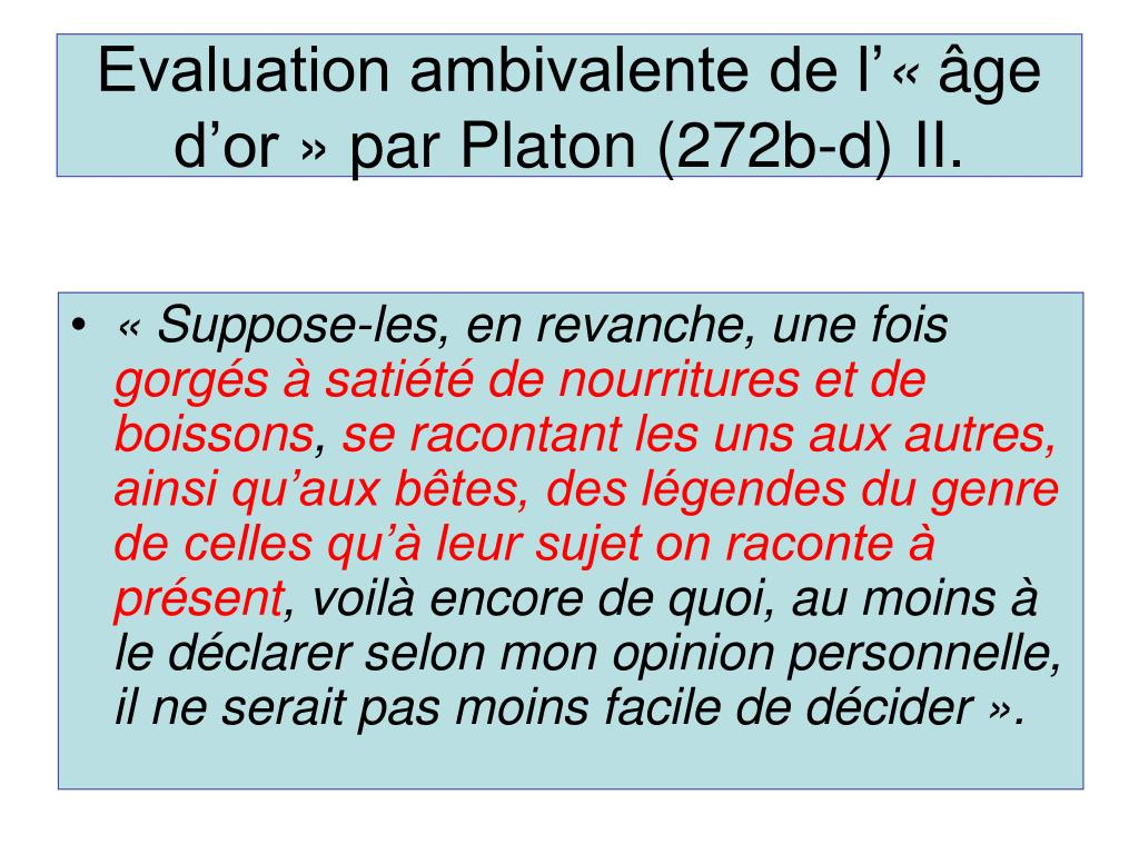 Evaluation ambivalente de l'