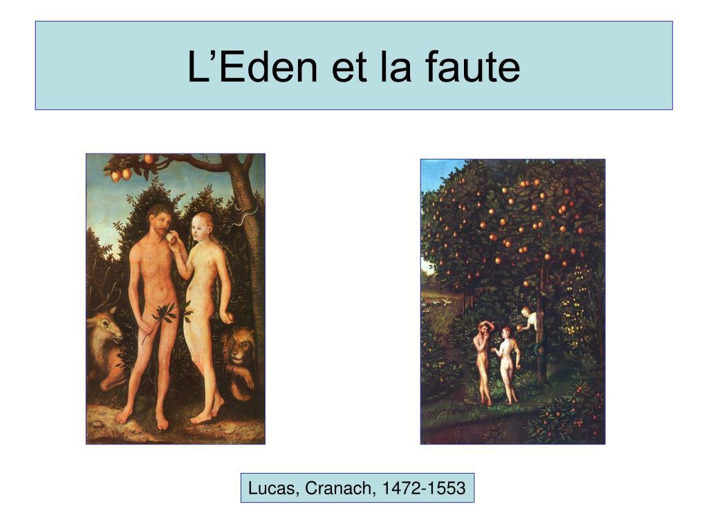 L'Eden et la faute