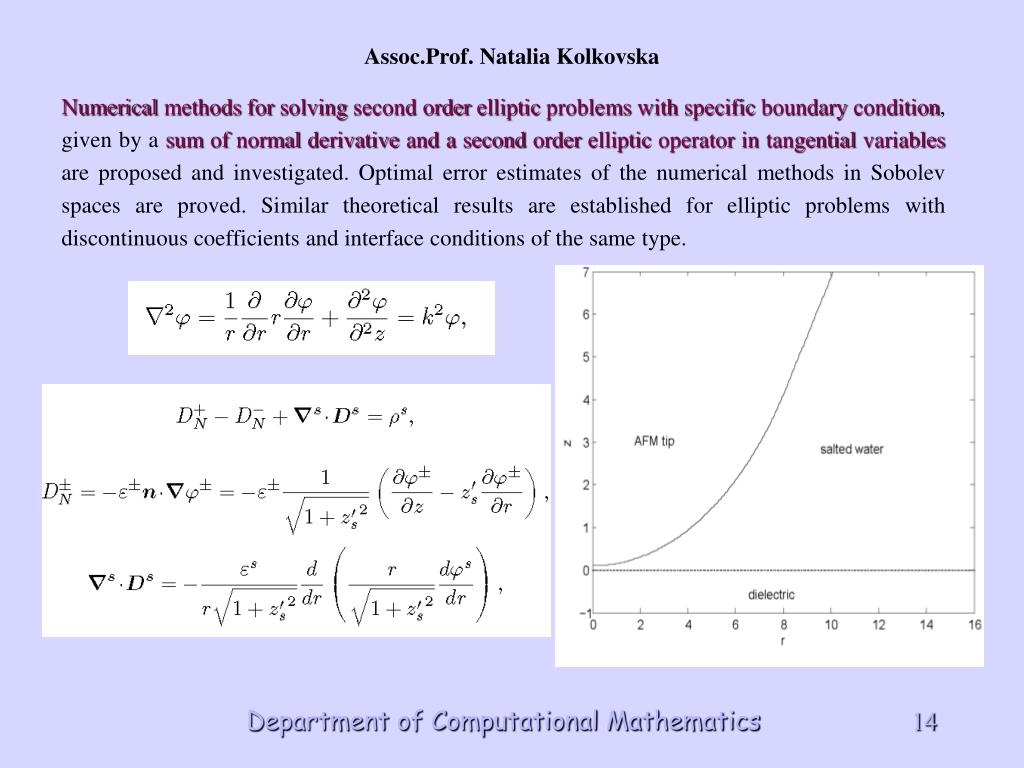 Numerical methods for solving second order elliptic problems with specific boundary condition