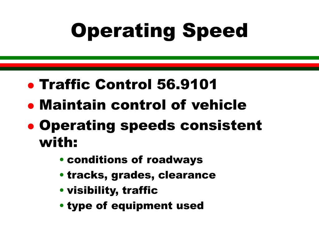 Operating Speed