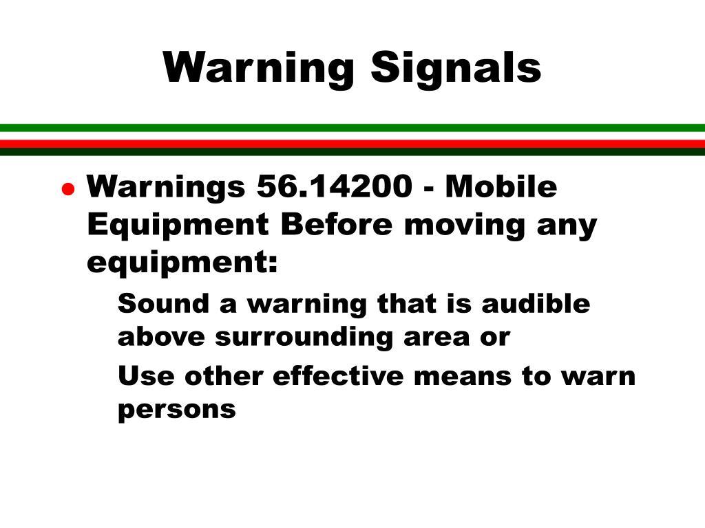 Warning Signals