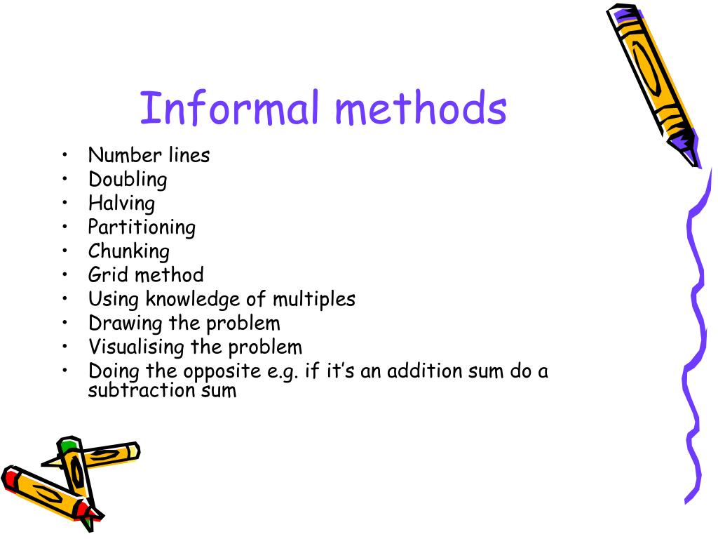 Informal methods