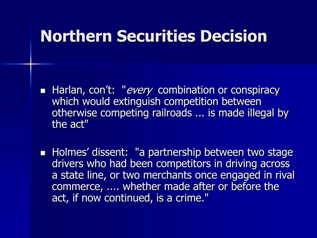 Northern Securities Decision