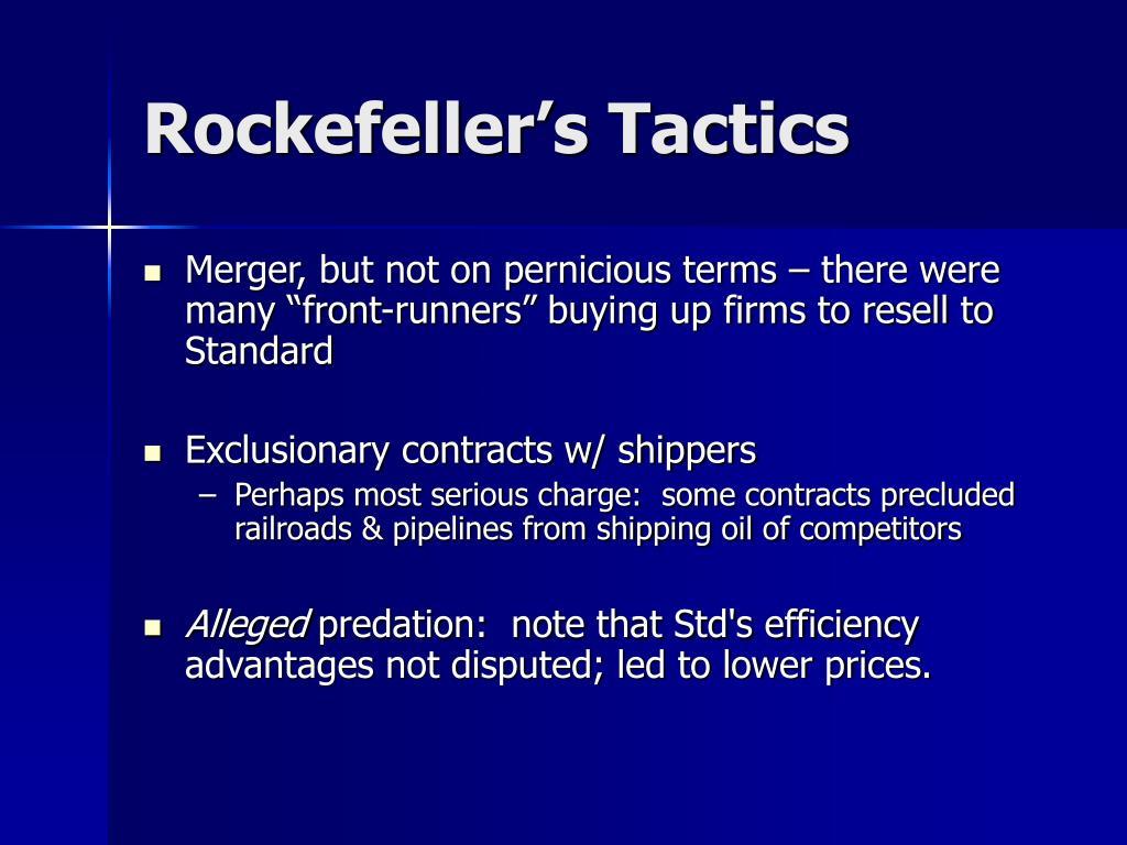 Rockefeller's Tactics
