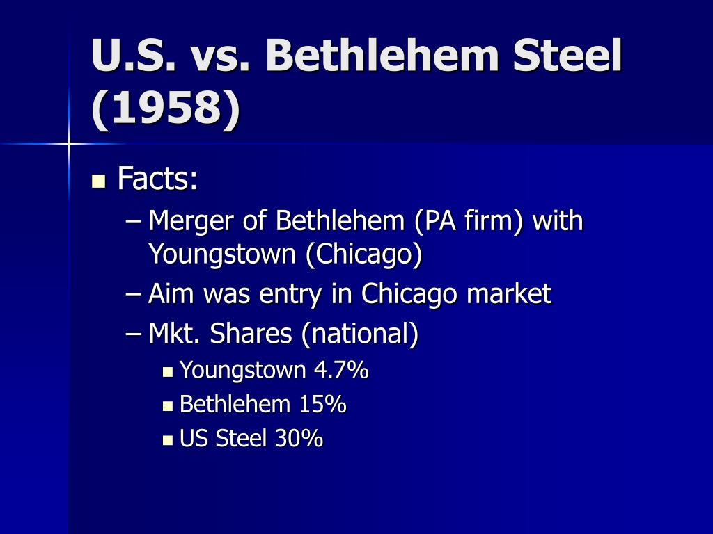 U.S. vs. Bethlehem Steel (1958)