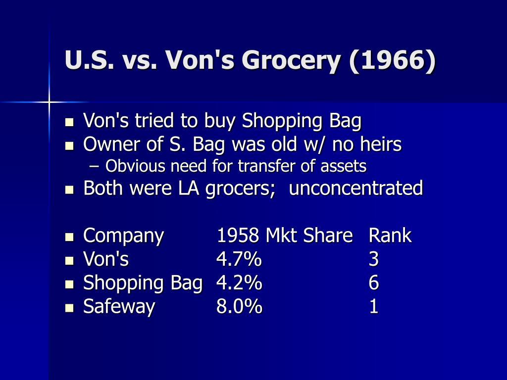 U.S. vs. Von's Grocery (1966)