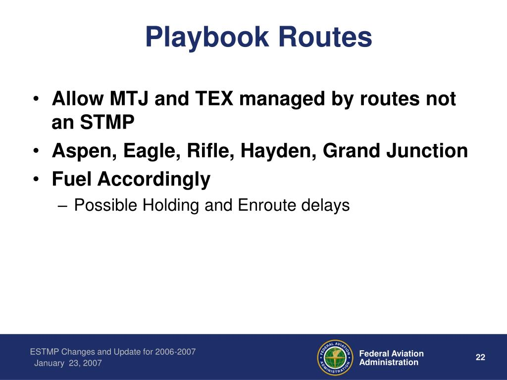 Playbook Routes