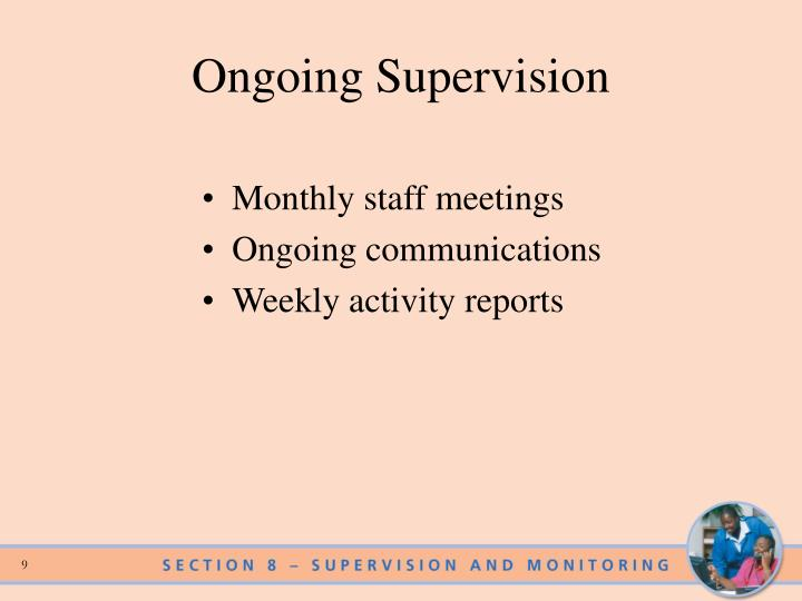 Ongoing Supervision