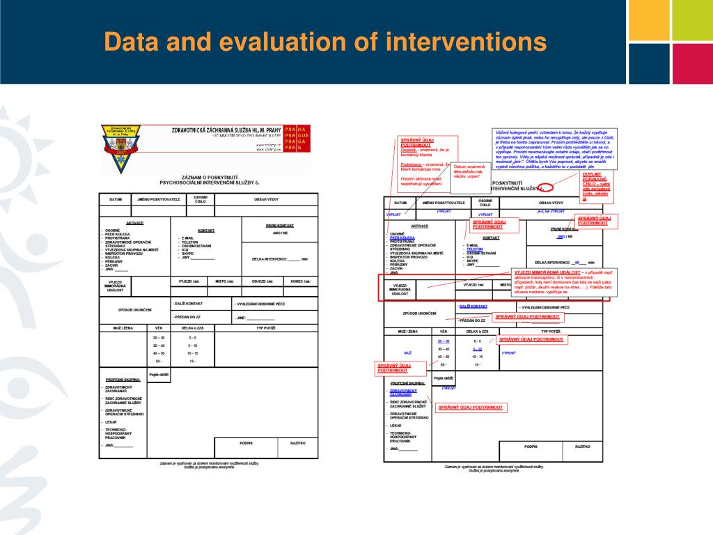 Data and evaluation of interventions