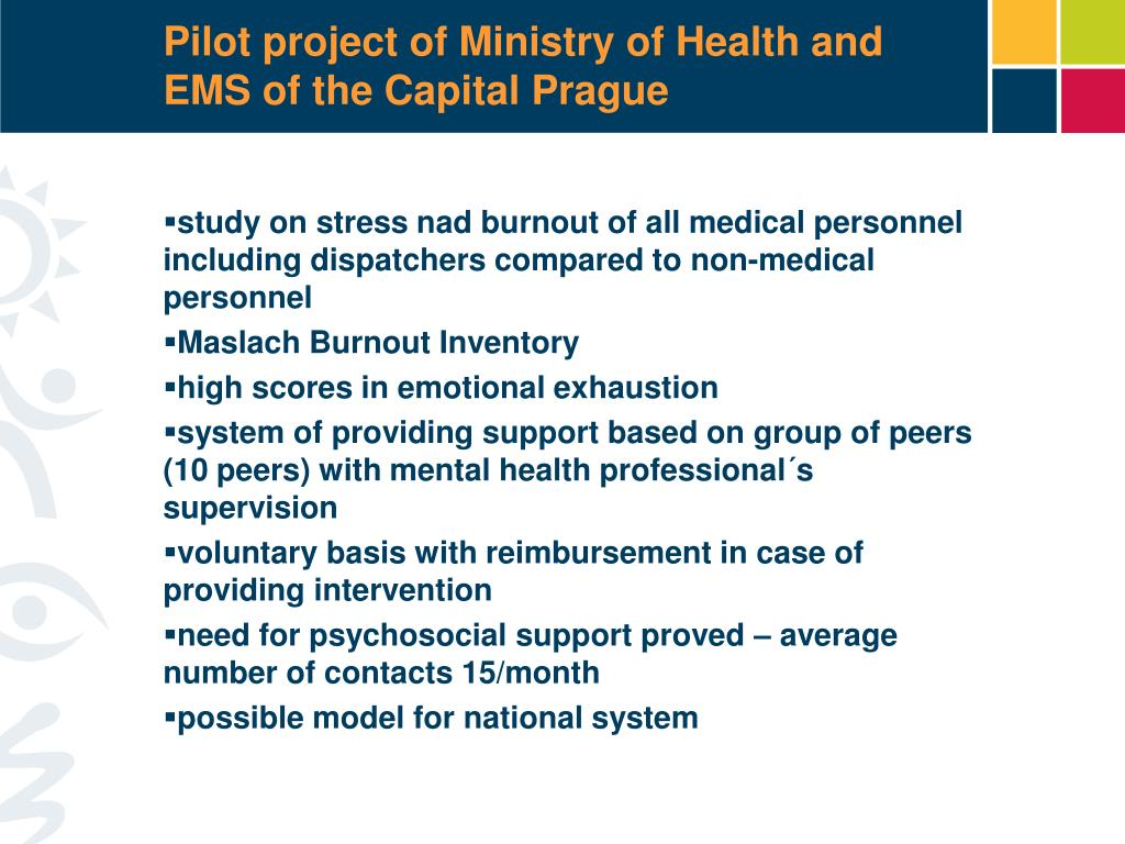 Pilot project of Ministry of Health and EMS of the Capital Prague
