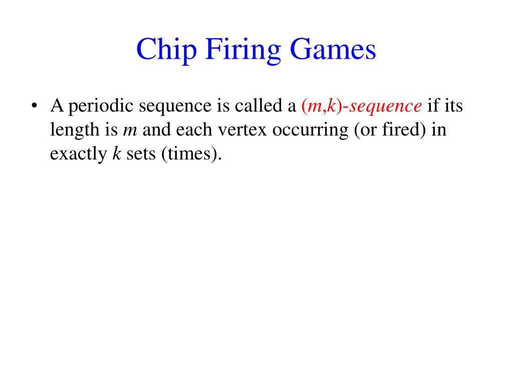 Chip Firing Games