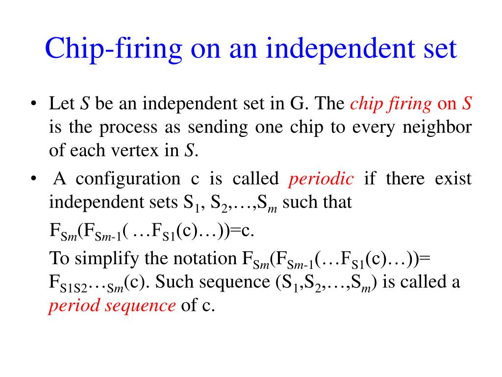 Chip-firing on an independent set
