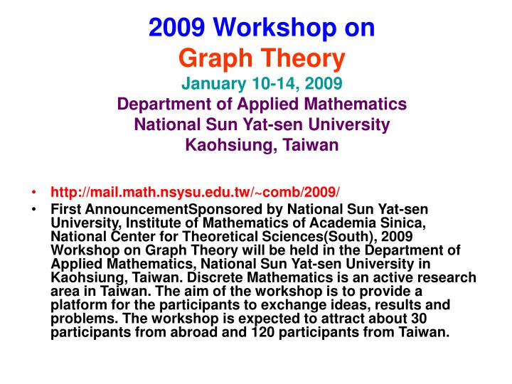 2009 Workshop on