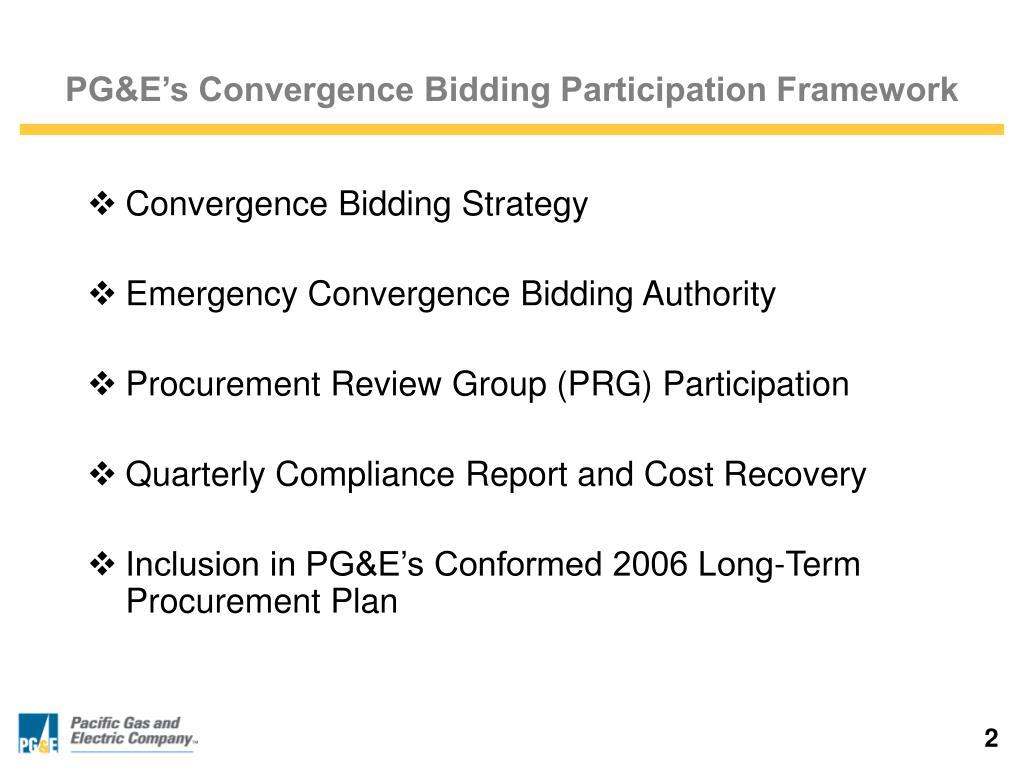 PG&E's Convergence Bidding Participation Framework
