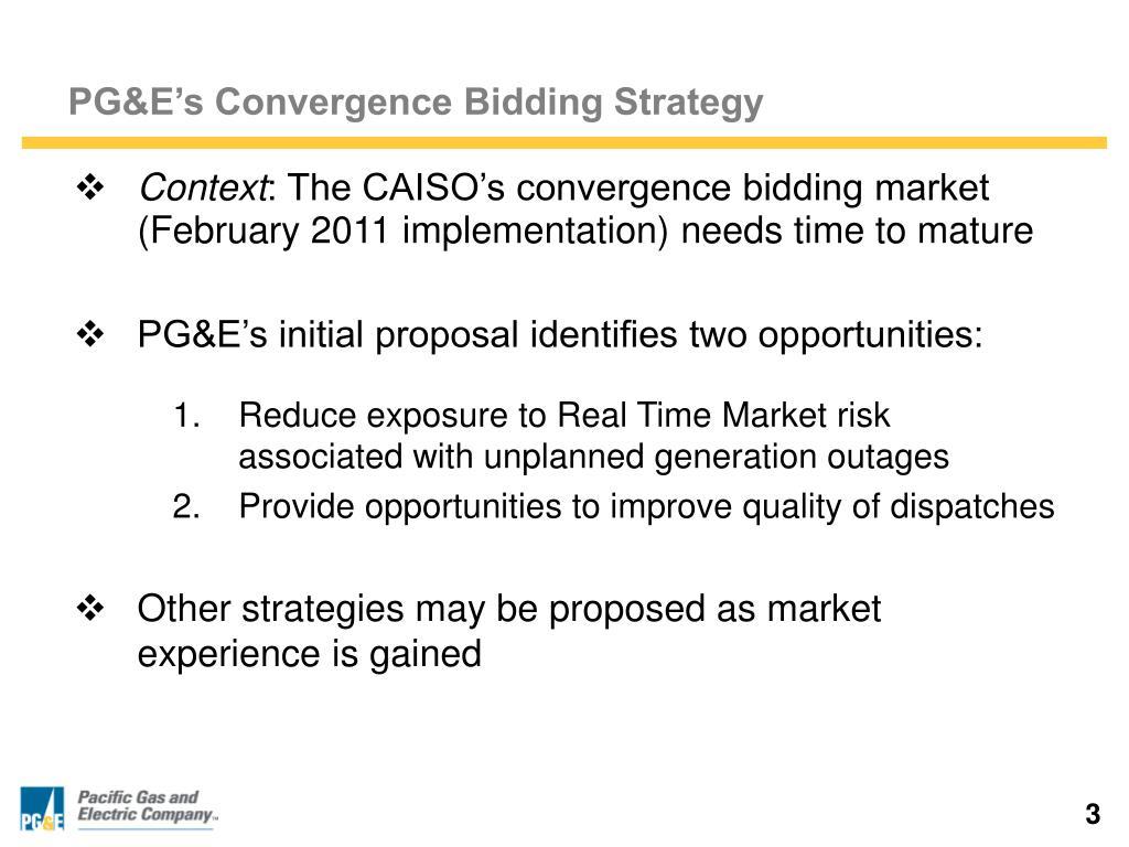 PG&E's Convergence Bidding Strategy