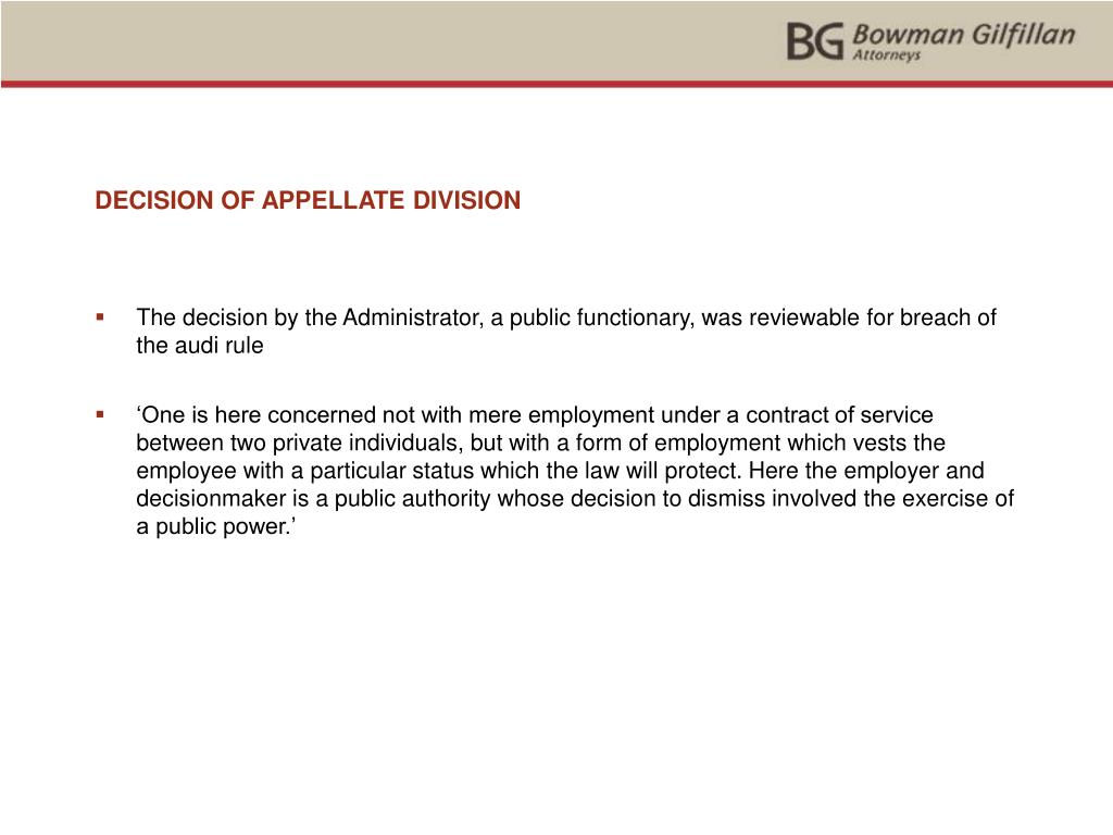 DECISION OF APPELLATE DIVISION