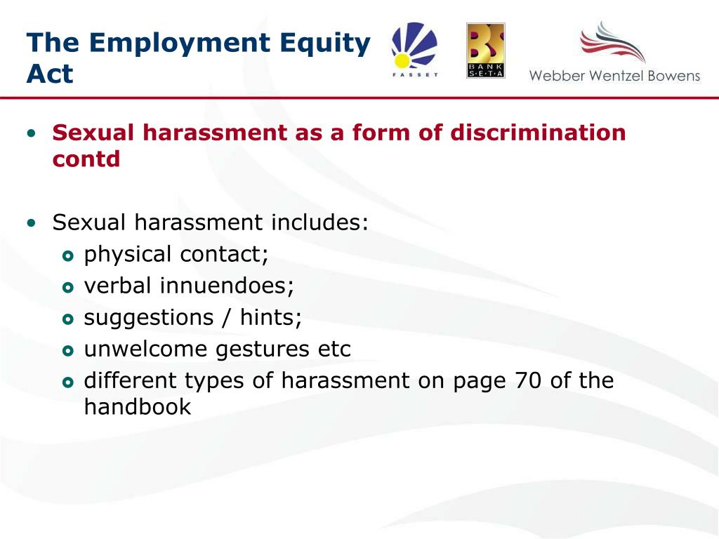 The Employment Equity