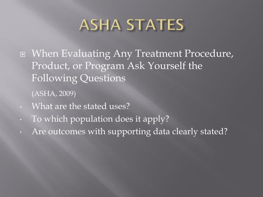 ASHA STATES