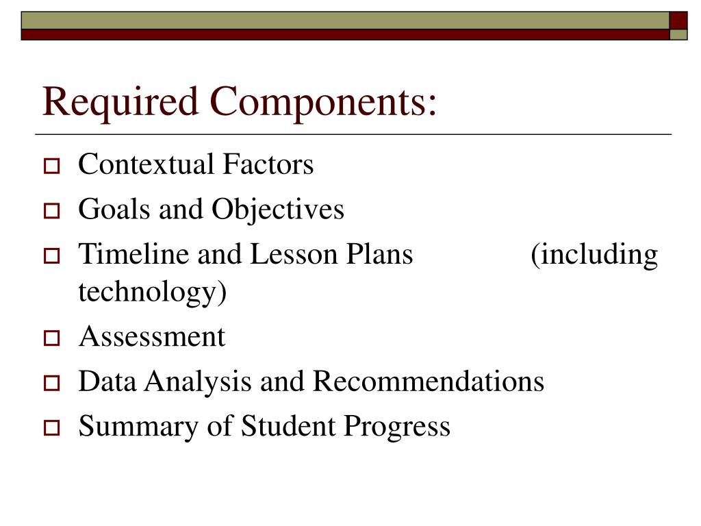 Required Components:
