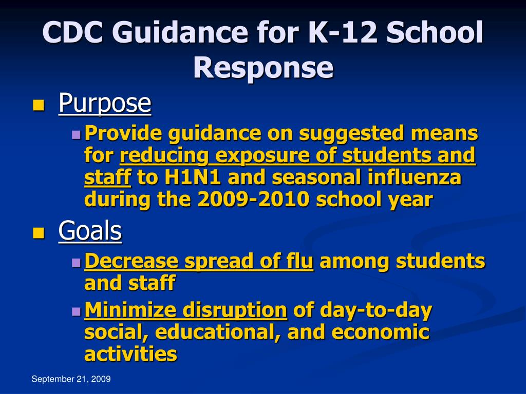 CDC Guidance for K-12 School Response