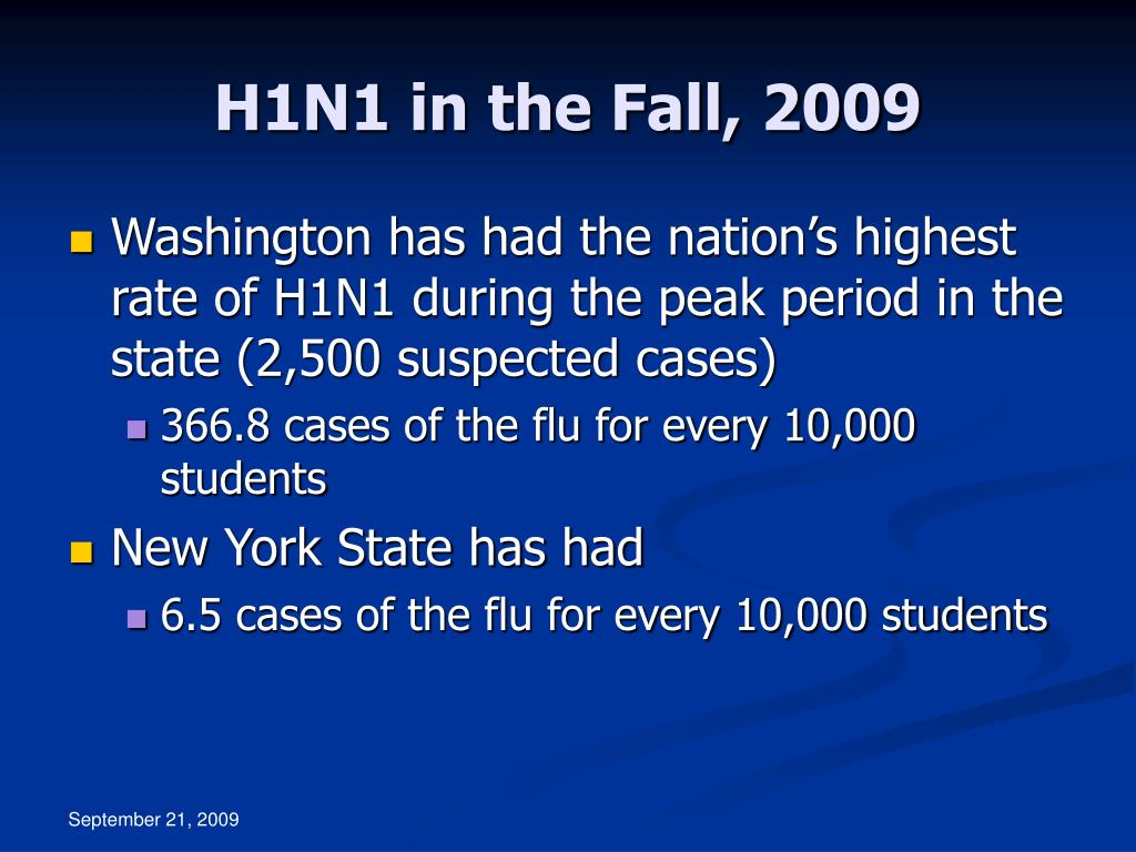 H1N1 in the Fall, 2009