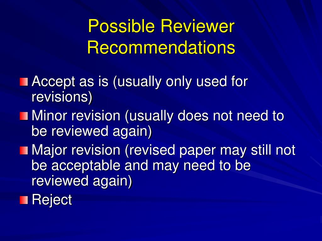 Possible Reviewer Recommendations