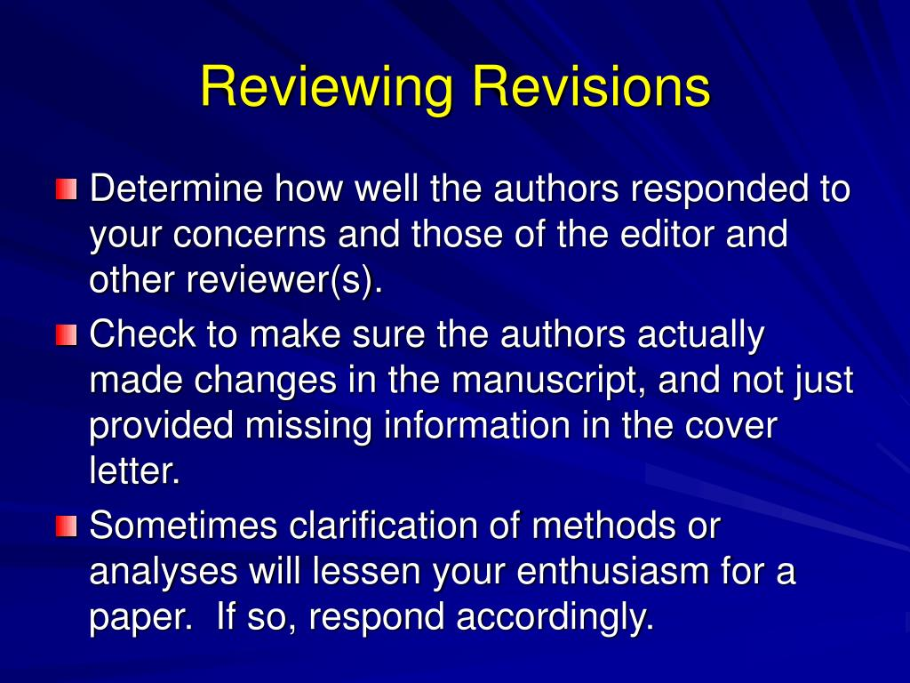 Reviewing Revisions
