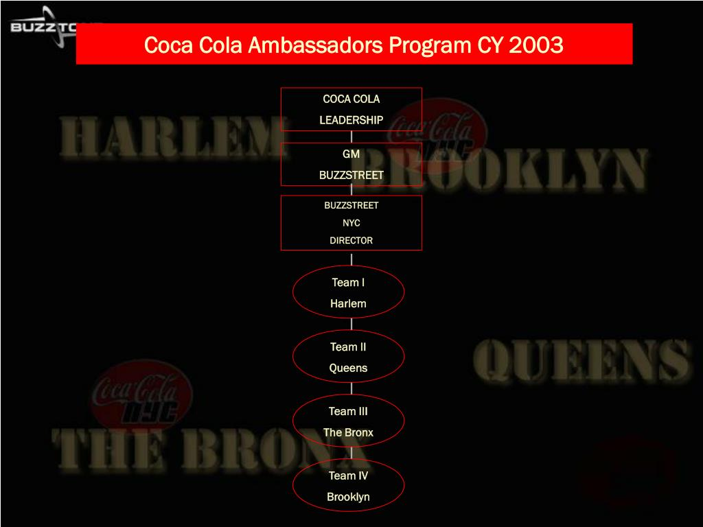 Coca Cola Ambassadors Program CY 2003