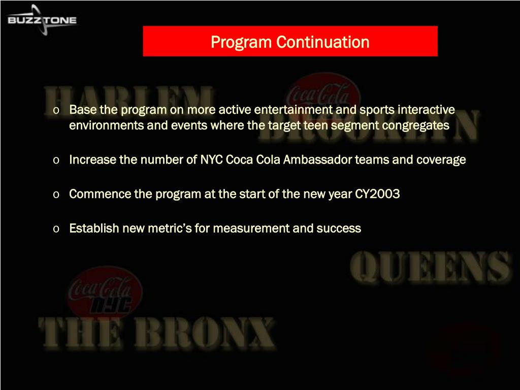 Program Continuation