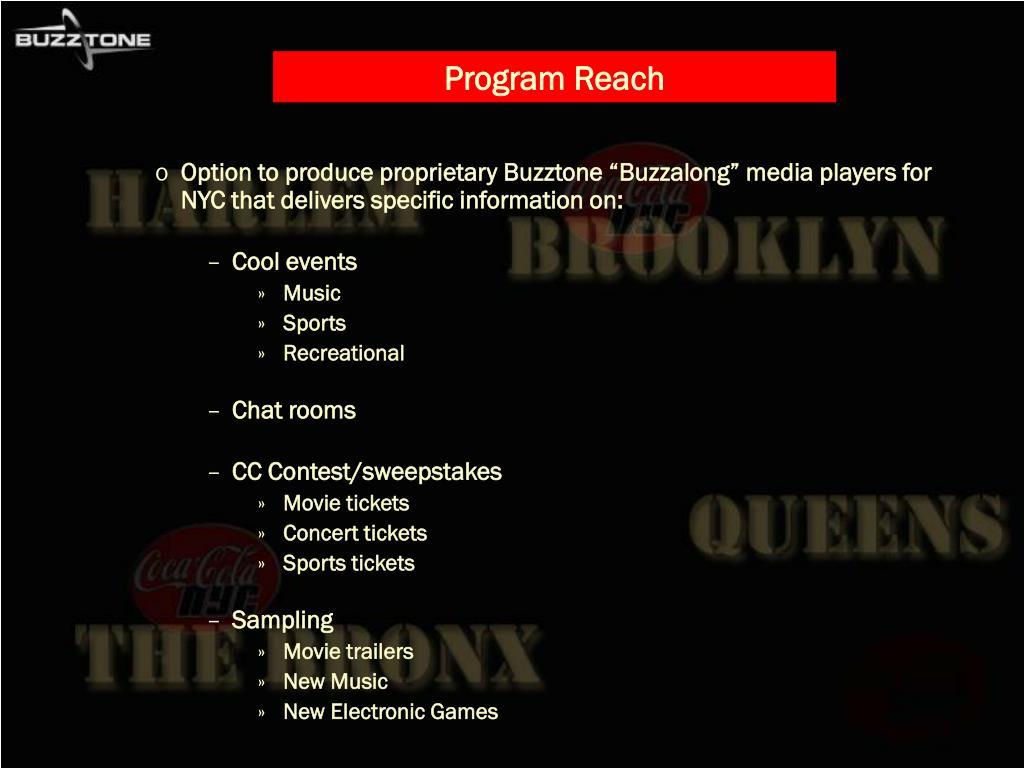 Program Reach