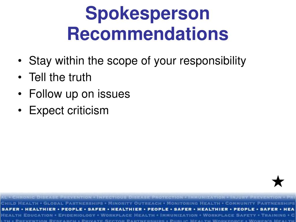 Spokesperson Recommendations