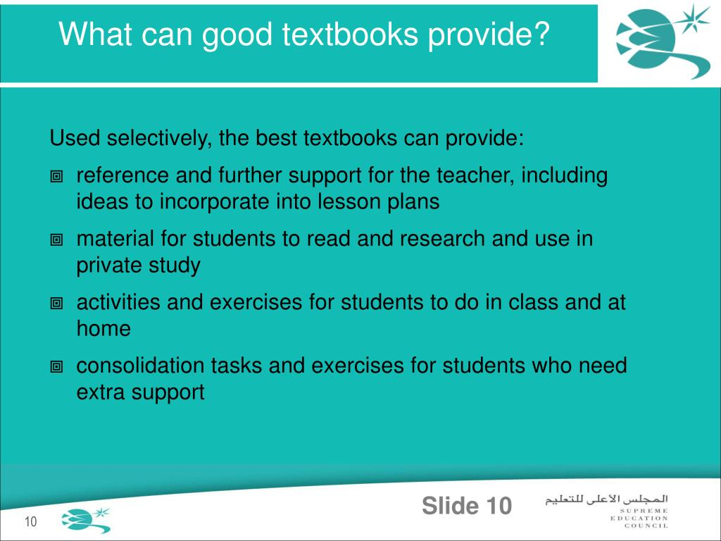 What can good textbooks provide?